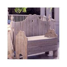 Uwharrie Nantucket Wood Garden Bench Finish: Coffee (Distressed)