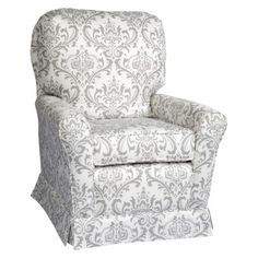Little Castle Linen Bordeaux Swivel Glider