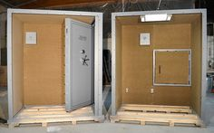 Two Piece Modular walk in Tornado Shelter or Safe Room