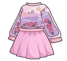Manga Clothes, Drawing Anime Clothes, Kawaii Clothes, Cartoon Outfits, Anime Outfits, Fashion Design Drawings, Fashion Sketches, Clothing Sketches, Cute Kawaii Drawings