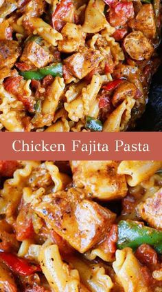 24 Delicious, Five Star Pasta Recipes That You Can Make At Home. This Chicken Fajita Pasta is the perfect quick and easy weeknight dinner recipe. Everything cooks in one pot and is done in 15 minutes. The whole family will love this Chicken Fajita Pasta! Pasta Dinner Recipes, Instant Pot Dinner Recipes, Chicken Pasta Recipes, Easy Pasta Recipes, Cooking Recipes, Recipe Chicken, Healthy Recipes, Cooking Cake, Cooking Fish