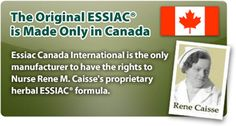 Rene Caisse's original ESSIAC formula is made only in Canada. Essiac Canada Intl. is the only manufacturer to have the rights to Rene Caisse's ESSIAC formula.
