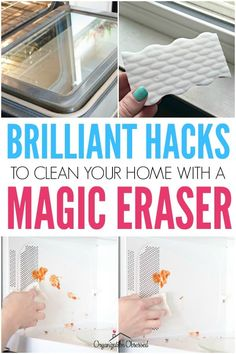 18 Magic Eraser Hacks That Will Blow Your Mind - Organization Obsessed Diy Home Cleaning, Household Cleaning Tips, Cleaning Recipes, House Cleaning Tips, Deep Cleaning, Cleaning Hacks, Easy Card Tricks, Easy Magic Tricks, Magic Eraser Uses