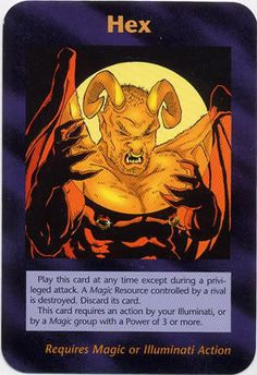 Illuminati Card Game -Hex Is the illuminati evil and run by satan? I'm going to say yes.  He seeks destruction. It's end times,♡♡♡ Jesus loves you♡♡♡