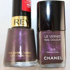Nail Polish Dupe- Chanel Paradoxal vs. Revlon Perplex