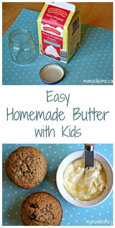 Easy Homemade Butter with Kids - Mamas Like Me