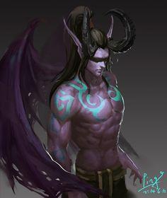 wow demon hunter art - Google Search