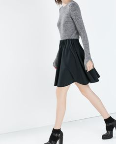 Image 2 of SHORT SKIRT WITH ELASTICATED WAIST from Zara