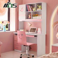 Детский компьютерный стол с розовыми ящиками и книжными полками из МДФ с изображением бабочки купить в интернет-магазине https://lafred.ru/catalog/catalog/detail/39354881650/