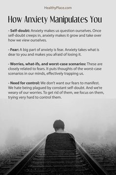 There are common ways that anxiety manipulates you and causes symptoms. Anxiety tries to control your life by manipulating you with these four tactics. Anxiety Facts, Anxiety Tips, Anxiety Help, Stress And Anxiety, Social Anxiety Symptoms, Anxiety Thoughts, Quotes About Anxiety, Social Anxiety Quotes, Writing Tips