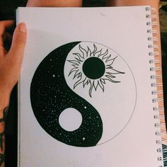 To draw easy, ying yang symbol, tattoo bedeutungen, yin yang art, yin and y Cute Easy Drawings, Art Drawings Sketches Simple, Pencil Art Drawings, Doodle Drawings, Cute Drawings Tumblr, Hipster Drawings, Random Drawings, Tattoo Sketches, Yin Yang Tattoo Meaning