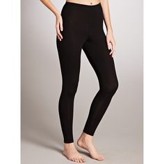 John Lewis Heat Generating Thermal Leggings, Black Size 8-10