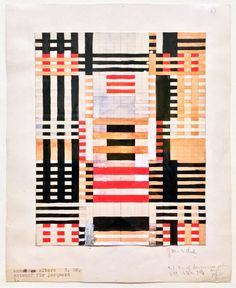 Anni Albers at Tate Modern - design sketch. Tate Modern exhibitions explores the. - Textile Art - Anni Albers - Welcome Crafts Art Bauhaus, Bauhaus Textiles, Bauhaus Design, Anni Albers, Josef Albers, Women Artist, Paper Weaving, Walter Gropius, Design Blog