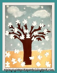 Νηπιαγωγός από τα πέντε...: ΟΜΑΔΙΚΗ ΕΡΓΑΣΙΑ ΓΙΑ ΤΟ ΚΑΛΟΚΑΙΡΙ!!! Christmas Loading, Babys, Crafts For Kids, Moose Art, Seasons, Education, School, Spring, Winter