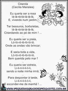 Jardim da Tia Di♥: Poemas infantis Nostalgia, School, Kids, Food, Poetry For Kids, Poetry Activities, Reading Activities, Infant Activities, Children Poems