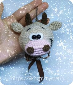 Christmas Toys, Christmas Knitting, Christmas Ornaments, Amigurumi Doll Pattern, Amigurumi Baba, Crochet Toys, Knit Crochet, Bull Cow, Cow Pattern