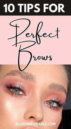 10 Tips For Perfect Brows. Find out how to find the perfect brow shape and how to trim and define your eyebrows for brows on fleek. | brows tutorial | brows microblading before and after | brow lamination before and after | how to fill brows pencil and pomade | makeup tips and tricks brows | the best brow products | #brows #makeuptips Makeup Artist Tips, Makeup Tips, Best Beauty Tips, Beauty Hacks, Diy Beauty, Bleached Hair Repair, Brows On Fleek, Ballroom Hair, Vintage Hairstyles