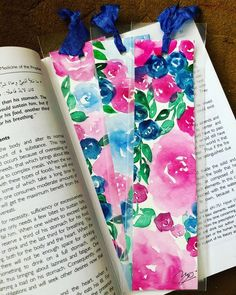 Excited to share the latest addition to my shop: Unique Watercolor Bookmark, Custom Art Bookmark, Cute Paper Bookmark for Books, Painted Bookmark with Colorful Roses, Handpainted Bookmark Bookmarks For Books, Custom Bookmarks, Paper Bookmarks, Watercolor Bookmarks, Watercolor Water, Watercolor Art Paintings, Colorful Roses, Blue Roses, Custom Art