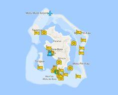 Bora Bora Travel Guide Map - French Polynesia