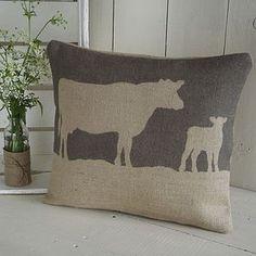 Rustic Cow Cushion - cushions