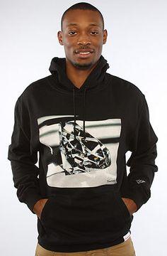 The Brilliant Glass Hoody in Black by Diamond Supply Co. Boy Outfits, Winter Outfits, Boy Fashion, Mens Fashion, Diamond Supply Co, Hoodies, Sweatshirts, My Wardrobe, Streetwear Fashion