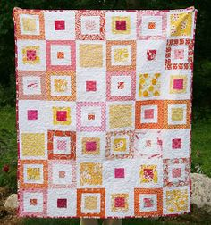 """Lemon Squares Front by Fresh Lemons. This is one of the first """"Modern"""" Quilts I saw online~ Jean"""
