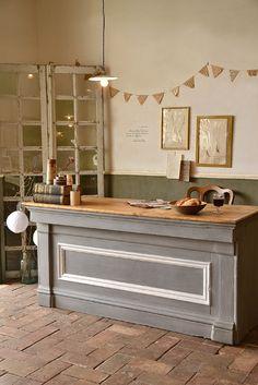 イギリス グレー×木味カウンター   Table(机・テーブル)     Siettela