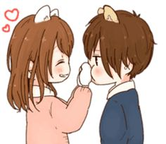 it's love by toco Cute Anime Chibi, Anime Love, Anime Couples, Cute Couples, I Love You Girl, Cute Bear Drawings, Chibi Couple, Artist Aesthetic, Cute Love Cartoons