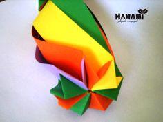 Tirabuzón, técnica de origami
