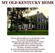 Stephen Foster – My Old Kentucky Home, Good Night Lyrics ...