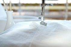 Pure White Linen tablecloth Softened Tablecloth by pureWHITEspa