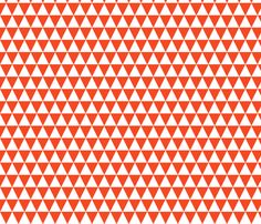 Triangle Rows - Vermillion by Andrea Lauren fabric by andrea_lauren on Spoonflower - custom fabric