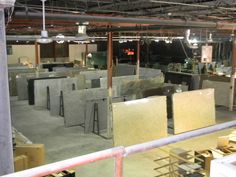 At the warehouse in #Nashville ! Check out all of the #Granite ! http://www.granitewarehousetn.com/