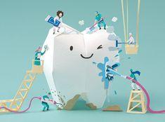 2019 Dental Calendar paper art project on Behance Dental Hygiene Student, Dental Clinic Logo, Dental Braces, Happy Dental, Dental Life, Dentist Art, Gifts For Dentist, Dental Posters, Medical Posters