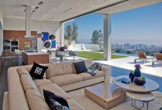 World of Architecture: Large Modern Home With Lovely City Views, Bel Air, Los Angeles