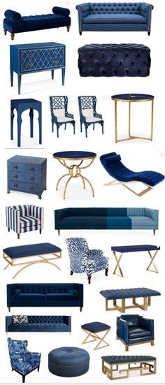 New Living Room Decor Navy Blue Furniture Ideas