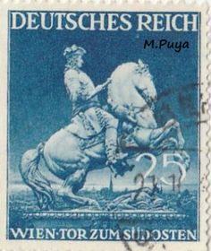 The set issued on to mark the Vienna Spring Fair. Vienna Fair headquarters, Symbol of the Fair. Prinz Eugen, Stamp Collecting, My Stamp, Military History, Postage Stamps, Wwii, Germany, Ebay, Statue