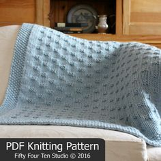 Blanket KNITTING PATTERN / Belleview Blanket / Throw / Afghan