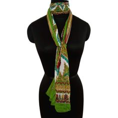 beautiful cotton printed scarf with paisley and floral print. This green scarf is an ideal fashion accessory for summer Summer Scarves, Neck Scarves, Head Wraps, Womens Scarves, Paisley, Fashion Accessories, Floral Prints, Detail, Cotton