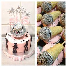 #birthday #cake# pink #disco #dance #dancer #night #discoball #cupcake #microphone