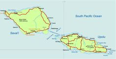 A map of Samoa.