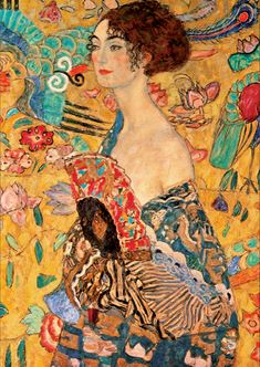 Gustav Klimt Lady With A Fan | 1000 piece jigsaw puzzle