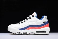 cheap for discount 7fcb3 e8827 Mens and WMNS Nike Air Max 95 White Black-Solar Red-Ultramarine 749766-106