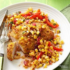 Baking requires minimal fat to make these pork chops perfectly browned and crisp./