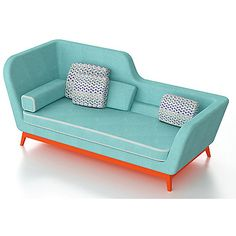 Eric Berthès Jeremie Daybed - With its unique daybed shape, Jeremie recalls the art-deco style.