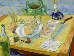 "Vincent van Gogh (1853-1890), ""Still Life with a Plate of Onions"" - Kröller-Müller Museum ~ Otterlo, The Netherlands"
