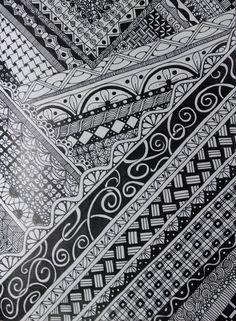 Zentangle Inspired Art on Moleskine Cahier Notebook using Bic Intensity Fine Point