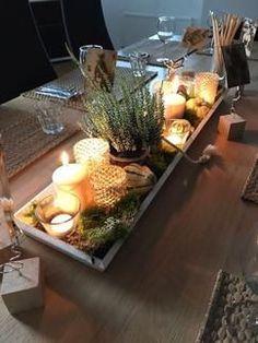 Maak het gezellig in huis .... met deze schaal decoratie een sfeervol geheel op elke tafel of kast .