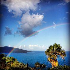 Virgin Islands rainbow #rainbow #vacation #bvi #caribbean