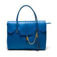 Aquilani Leather Handbag in Blue